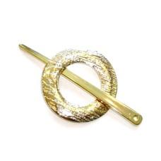 Scarf Closure 70 mm Gold (Cirkel)