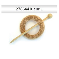 Sjaal Sluiting met ingravering 60 mm (Natur)