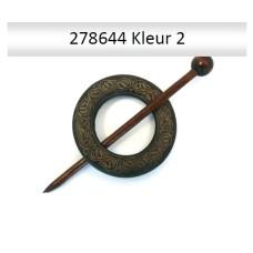 Sjaal Sluiting met ingravering 60 mm (Brown)