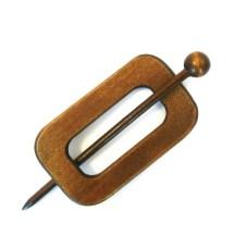 Sjaal Sluiting Brown 100 mm (Rechthoek)