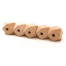 Hexagonkraal hout 14 mm