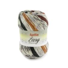 Katia Easy Jacquard Grey Red Light Orange (106)