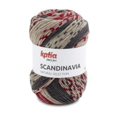 Katia Scandinavia Red Anthracite Grey (207)
