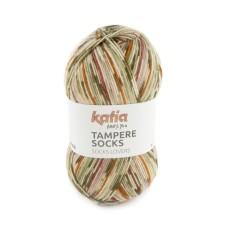 Katia Tampere Socks Fawn-Red-Orange-Khaki (101)