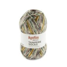 Katia Tampere Socks Grey-Pale Red-Blue-Yellow (104)