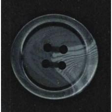 Button gemeleerd mat 4 holes black 2 cm