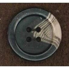 Button gemeleerd mat 4 holes brown 2 cm