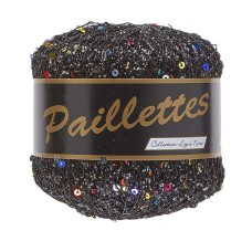 Lammy Yarns Paillettes Black (412)