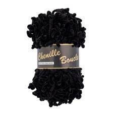 Lammy Yarns Chenille Boucle Black (001)