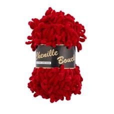 Lammy Yarns Chenille Boucle Red (043)