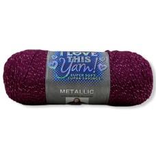 I Love This Yarn Metallic Razzleberry (752)