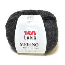 Lang Yarns Merino+ Charcoal (152.0105)