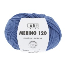 Lang Yarns Merino 120 Blauw (34.0121)