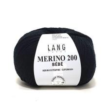Lang Yarns Merino 200 Bebe Black (71.0304)