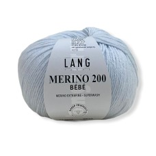 Lang Yarns Merino 200 Bebe Baby Blue (71.0506)