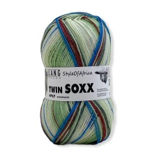 Lang Yarns Twin Soxx 4 Ply Style of Africa Green (0303)