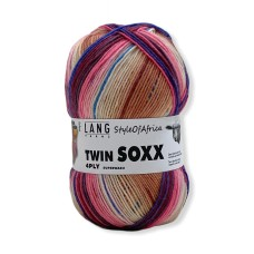 Lang Yarns Twin Soxx 4 Ply Style of Africa Bordo (0304)