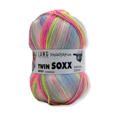 Lang Yarns Twin Soxx 4 Ply Style of Africa Neon (0308)