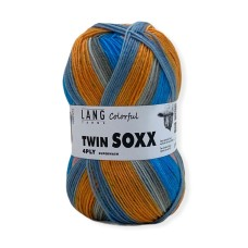 Lang Yarns Twin Soxx 4 Ply Colorful Orange Juice (0316)
