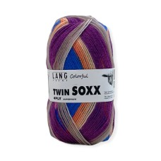 Lang Yarns Twin Soxx 4 Ply Colorful Raspberry Punch (0318)