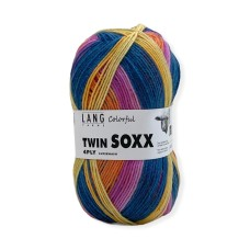 Lang Yarns Twin Soxx 4 Ply Colorful Portakal Punch (0319)