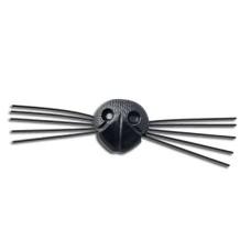 Neus met snorharen zwart 21 mm