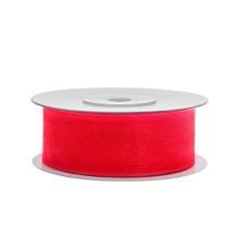 Organza Ribbon Fucshia  - 25 mm