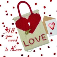 Wandhanger Valentijn (Haakpakket)