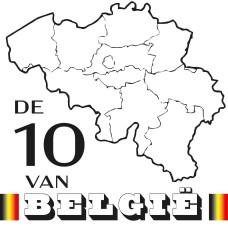 De 10 van Belgie CAL 2021 (White) - Katoen