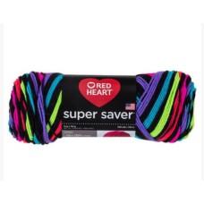 Red Heart Super Saver Neon Stripes