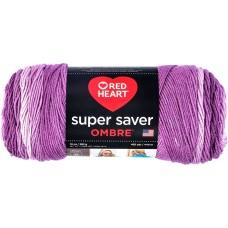Red Heart Super Saver Ombre Yarn Purple