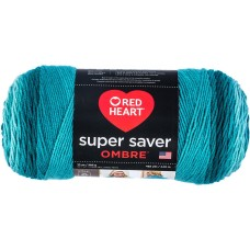 Red Heart Super Saver Ombre Yarn Deep Teal