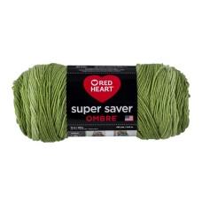 Red Heart Super Saver Ombre Yarn Green Apple
