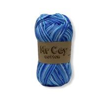 Mr. Cey Cotton Multi Aquamarine
