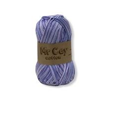 Mr. Cey Cotton Multi Purple Flower