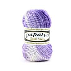 Papatya Batik Silver Purple