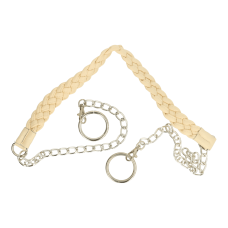 Bag handle leatherette with chain 123 cm (Cream)