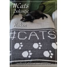 Cats bankdekentje (Haakpatroon)
