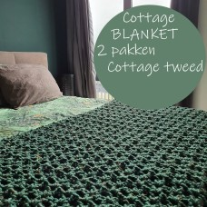Cottage Tweed Deken (Haakpatroon)